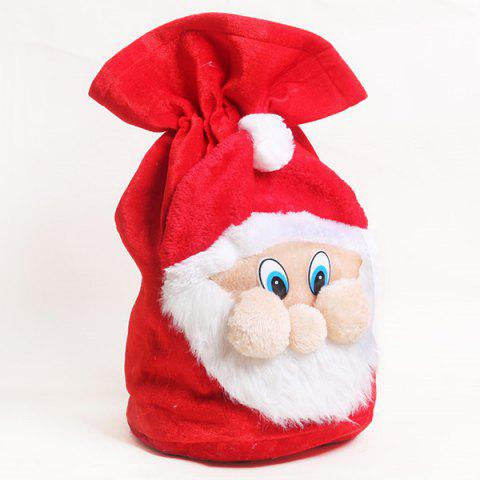 Store Merry Christmas Santa Claus Plush Candy Gift Bag - RED  Mobile