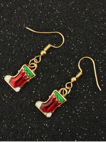 Affordable Christmas Boots Drop Earrings GOLDEN