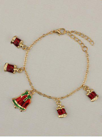 Outfits Gold Plated Christmas Bows Bells Charm Bracelet GOLDEN