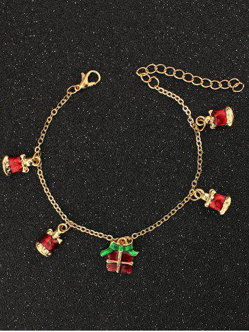Discount Christmas Bells Gift Charm Bracelet GOLDEN