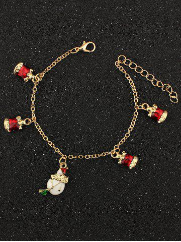 Shops Christmas Bells Snowman Charm Bracelet GOLDEN