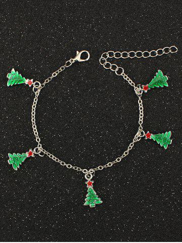 Best Christmas Tree Pentagram Charm Bracelet SILVER