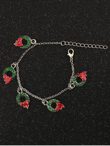 Outfit Bows Christmas Garland Charm Bracelet SILVER