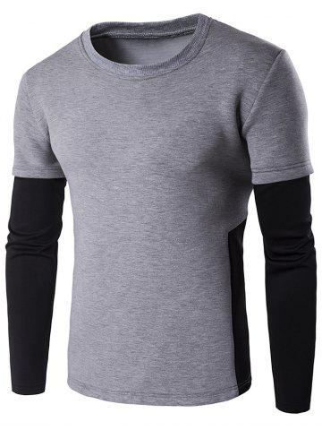 Fancy Contrast Panel Crew Neck Sweatshirt