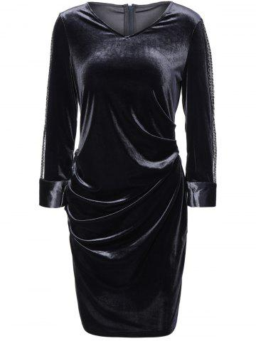 Best Velvet Sheath Ruched Dress