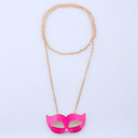 Outfit Mask Pendant Sweater Chain - GOLDEN  Mobile