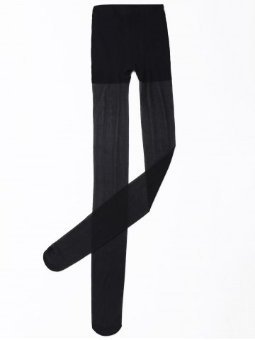 Affordable Slimming Sheer Tights - ONE SIZE BLACK Mobile