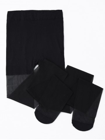 Affordable Skinny Sheer Tights - ONE SIZE BLACK Mobile