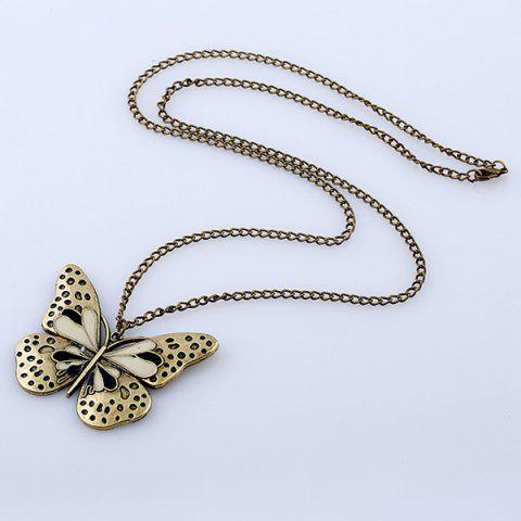 Outfits Butterfly Pendant Sweater Chain - BLACK  Mobile