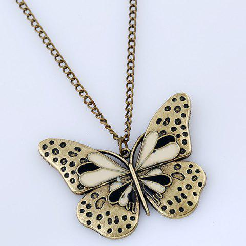 New Butterfly Pendant Sweater Chain - BLACK  Mobile