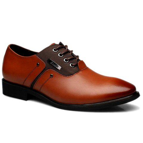 Best PU Leather Metal Tie Up Formal Shoes