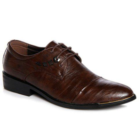 Fancy Metal PU Leather Lace Up Formal Shoes