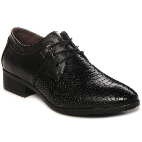 Outfit Lace Up Embossing Metal Formal Shoes BLACK 43