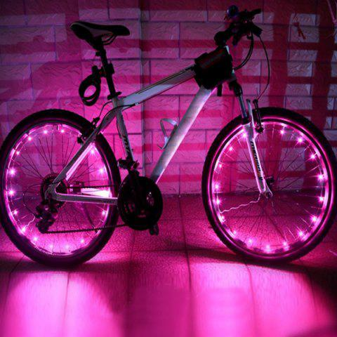 Outfit 20 LED Flash Waterproof Safe Bicycle Wheel Lamp - PINK  Mobile