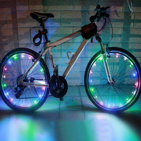 20 LED Flash Waterproof Safe Bicycle Wheel Lamp - Colorful
