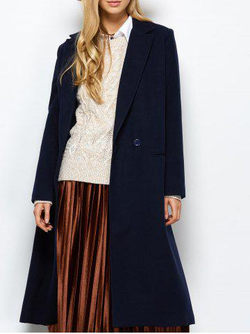 Affordable Laple Maxi Coat with Pocket
