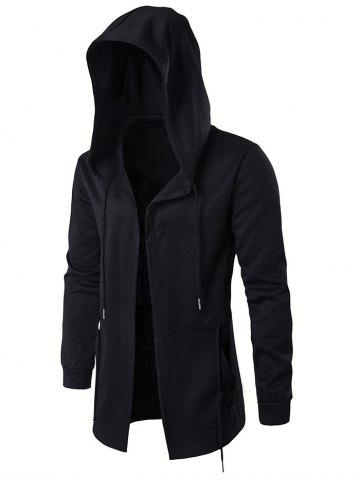 New Cloak Hooded Waist Open Front Hoodie