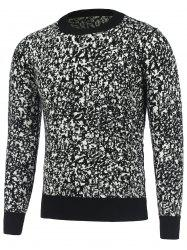 Long Sleeve Round Neck Texture Pullover Sweater