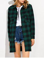 Plaid Long Flannel Shirt