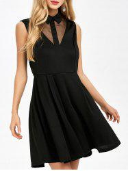 See Through Sleeveless Vintage Dress -