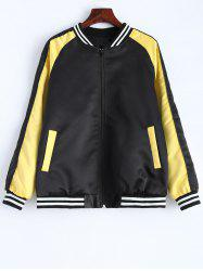 Stripe Panel Baseball  Jacket