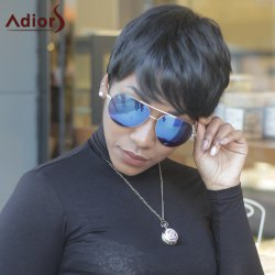 Ultrashort Straight Pixie Cut Side Bang High Temperature Fiber Wig - BLACK