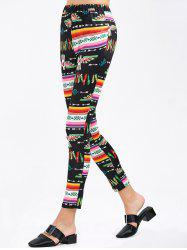 Tribal Bird Printed Skinny Pants