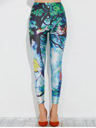 Skinny Anime Cat Printed Leggings