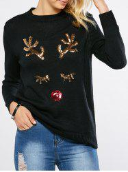 Sequined Pullover Sweater