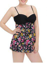 Cami Cut Out Floral Underwire Padded Tankini Set -