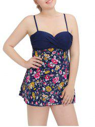 Cami Cut Out Floral Underwire Padded Tankini Set