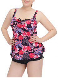 Cami Floral Cut Out Tankini Set