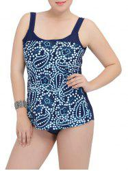 Printed Square Neck One-Piece Swimwear