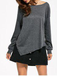 Drop Shoulder Asymmetrical T-Shirt -