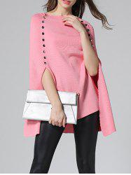 Poncho Pull entaillé - Rose  M