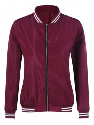 Zipper Bomber Jacket -