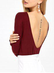 Open Back Drop Shoulder T-Shirt -