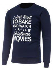 Crew Neck Long Sleeve Christmas Graphic Print Sweatshirt -