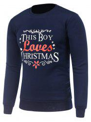 Crew Neck Long Sleeve Christmas Graphic Sweatshirt -