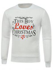 Crew Neck Long Sleeve Christmas Graphic Sweatshirt