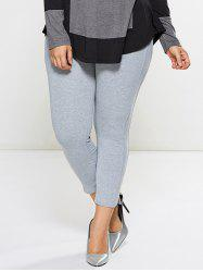 Plus Size Skinny Footless Leggings
