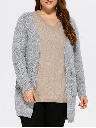 Open Front Lace Up Cardigan -