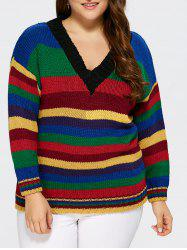 V neck Striped Sweater