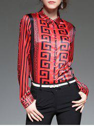 Geometrical Satin Blouse