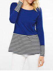 Striped Insert Drop Shoulder T-Shirt