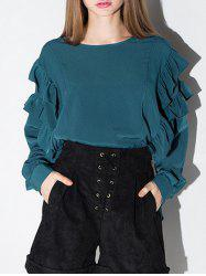 High Low Flounce Blouse -