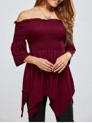 Asymmetric Off The Shoulder Blouse