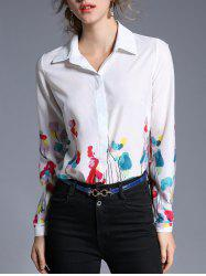 Flower Printed Chiffon Shirt -