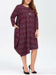 Plus Size Long Sleeves Asymmetrical Baggy Dress