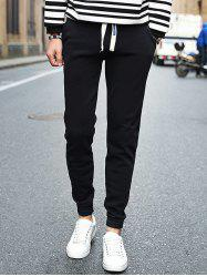 Slim Fit Pocket Design Drawstring Jogger Pants